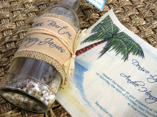 Message Bottle 02 In A Wedding Invitations 03