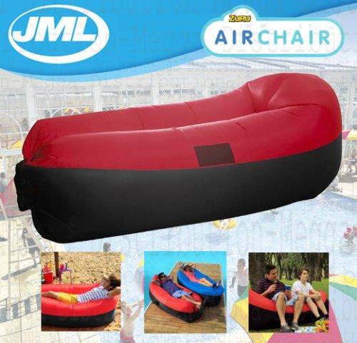 JML Air Chaise de jardin de plage gonflable Canapé gonflable et matelas gonflable Rouge