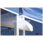 INTEROUGE Gouttière 6m 300g/m² Blanc avec velcro pour tentes pliantes tonnelles barnums