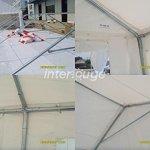 INTEROUGE Tente de réception 5 x 10 m en acier 38mm galvanisé à chaud et PVC 480 g/m² Tonnelle Barnum Chapiteau Blanc