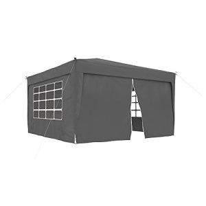 JAROLIFT Pavillon pliable 3×3 m Premium compris 1 x élément de porte & 3 x élément de fenêtre, anthracite
