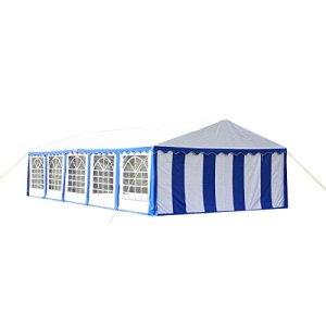 Toile de rechange pour tente de réception 10 x 5 m en bleu et blanc