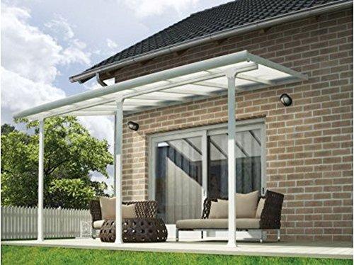 Toit terrasse blanc avancée 3 x 9 m -Dim : 915 x 295 x 260 cm -PEGANE-