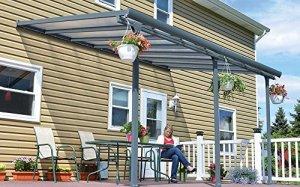 Toit terrasse gris avancée 3 x 9 m -Dim : 915 x 295 x 260 cm -PEGANE-