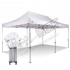 Tente pliante 3×6 M en Acier et Polyester 350g/m² Tonnelle pliante Chapiteau Barnum