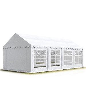 4×8 m Tente de réception / Barnum blanc toile de haute qualité 500g/m² PVC ECONOMY INTENT24