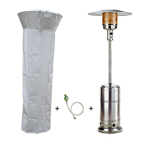 Parasol chauffant gaz 14kW Inox Radiateur de terrasse (inclus housse, connectique)