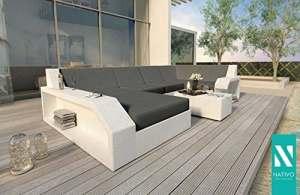 Salon d'extérieur Canapé lounge en rotin MATIS XL NATIVO©