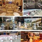 SAILUN Lot de 5 Housse pour Table tischhussen, table Diamètre Ø 60-80 cm , élégant Housse pour Table mange-debout Table de bistro, Noir, Ø 70 cm