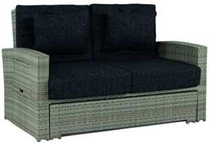 Schlichter Möbel 'Canapé de jardin 2places «Hampton» extensible en polyrotin