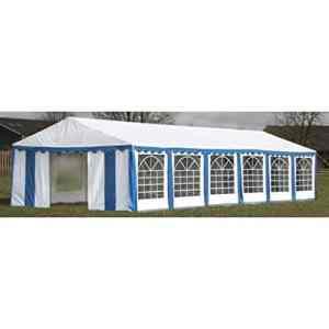 Zora Walter Tente de Jardin en Fer étanche Bleu 12 x 6 m
