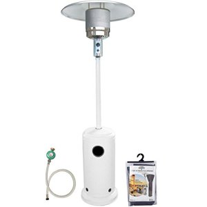 A+Life Parasol Chauffant au gaz – 13kW – Summer Blanc + Housse et connectique