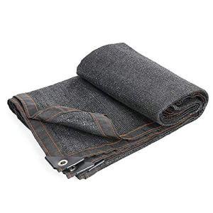 ANUO Toile d'ombrage en Maille 80% Tissu avec œillets pour Plantes, Grange, Niche, Polyéthylène, Noir, 3x4m/9.8×13.1ft