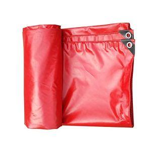 Bâches Toile antidérapante de Tente de Camping en Plein air de antidérapante de auvent extérieur TIDLT (Couleur : Rouge, Taille : 3x4m)