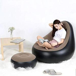 Fauteuil Poire Canapé Portable Creative PVC Rapide Gonflable Affaissement Coussin Sofa Chaise Lazy Sommeil Lit Jardin Meubles (Couleur : Marron, Taille : Taille Unique)