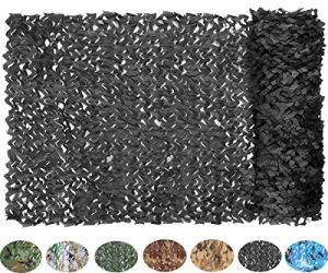 NICEFISH Masque de Camouflage Netting Netting Camouflage Militaire Camouflage Net Photographie décoration Fond Pare-Soleil Stores Chasse (Customize) (2x3M(6.6x10ft),Noir)
