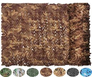 NICEFISH Masque de Camouflage Netting Netting Camouflage Militaire Camouflage Net Photographie décoration Fond Pare-Soleil Stores Chasse (Customize) (3x5M(10×16.4ft),Camouflage du désert)