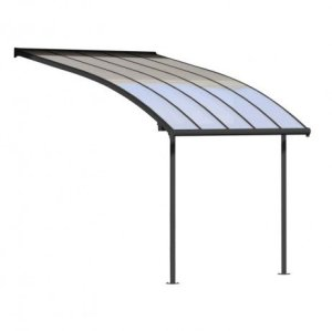Palram Pergola Joya 3×3 Longueur : 3.14 m, Largeur : 2.95 m – Hauteur : 2.16 m Gris