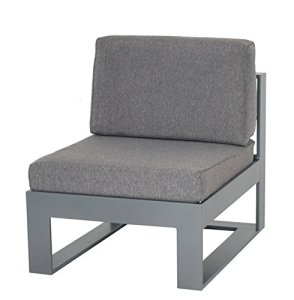 Schlichter Möbel Meubles de Jardin Canapé de Jardin Canapé Lounge Stratos 1er–Moyen Élément Aluminium