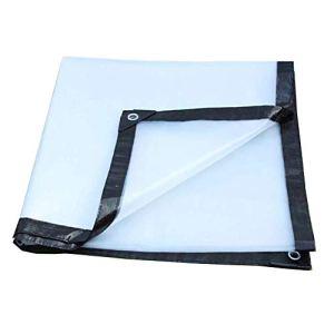 TENT Bâche Bâches Tente robuste transparent étanche Épaissir Tissu Plastique, Housse, Camping Sheet, Film Greenhouse Isolation, Plastique Canopy, Taille personnalisable,CLAIR,2 * 2M