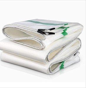 Toile antipluie imperméable bâche de Protection Solaire ultraléger à Trois Roues bâche de linoléum bâche de Protection Parasol épaississement (Color : White, Size : 6X12M)
