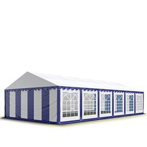 TOOLPORT 6×12 m Tente de réception/Barnum Bleu-Blanc Toile de Haute qualité 500g/m² PVC Economy INTENT24
