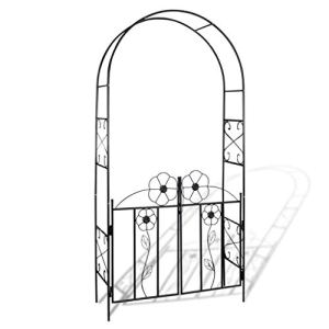 vidaXL Arche de Jardin Arceau à Rosiers Support de Plantes Grimpantes Pergola