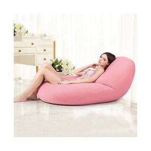ZHNA Zéro gravité Paresseux canapé Sac de Haricots Chambre Salon Chaise Unique Net Chambre Rouge Petit Appartement Tatami (Color : Pink, Size : M)