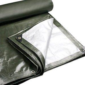ChenCheng Bâche – Polyéthylène Épaississant Étanche Résistant Au Soleil Parce Auvent Extérieur De Camion 180g / m², 22 Tailles, ArmyGreen Outdoor Equipment (Size : 4X8m)