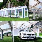 Das Company Tente de fête Transparente Winter Plus MST 6×12 m Blanc/Rouge
