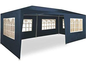 Maxx Marquee 3x6m – UV 50plus – Hydrofuge – 18m² – Pavillon, Tente, Chapiteau, Tonnelle Festival – 6 Parois Enroulables – 18 Fenêtres – Bleu – Sélection Couleurs