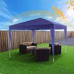 Bunao Gazebo/Tonnelle de Jardin Tente de réception 3x3m pavillon imperméable Tente Pliante de Jardin (Violet)