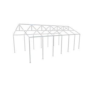 Festnight Cadre de Jardin à Effet de Serre | Armature Metallique Tonnelle de Jardin 12 x 6 m