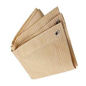 Anuo – Tissu de protection solaire avec œillets – Toile de protection contre le soleil – Pour plantes de jardin, grange, chenil, bâche, Polyéthylène, beige, 2x4m/6x12ft