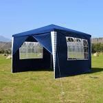 Hengda 3 x 3 m Jardin Tonnelle étanche Jardin Camping Stable tente tubes d'acier stable de haute qualité avec 3 parties latérales et 1 entrées étanche