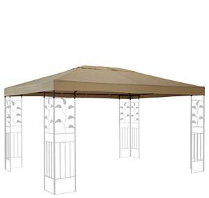 Quick-Star Toit de Rechange pour pavillon de Jardin 3 x 4 m