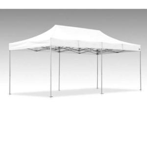 Tente Pliante V3S5-Pro PVC Blanc – 3 x 6m 3 m