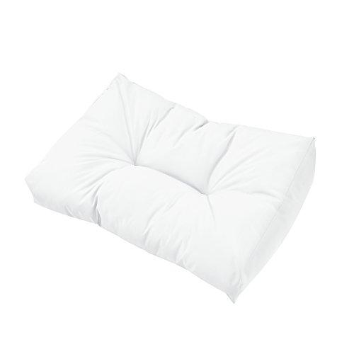 [en.casa] Coussins pour palettes – kit de 5 – Coussin de siège + Coussins de Dossier [Blanc] Canapé de palettes in/Outdoor