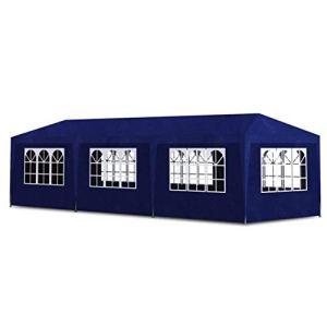 LXDDP Tente fête, Tente Jardin Gazebo Marquee avec 8 fenêtres, Gazebo avec Panneaux latéraux, Tente résistante à l'eau pour la fête, Réunions Famille, 3×9 m