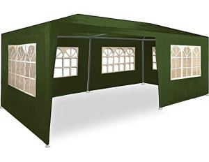 MaxxGarden Marquee 3x6m – UV 50plus – Hydrofuge – 18m² – Pavillon, Tente, Chapiteau, Tonnelle Festival – 6 Parois Enroulables – 18 Fenêtres – Vert – Sélection Couleurs