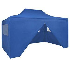 CFG Shelters & Gazebos Tente pliante avec 4 murs 3 x 4,5 m Bleu