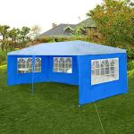Tent HDS Tissu Oxford Mur Côtés Jardin Patio extérieur étanche Canopy 3×6 Sun Mur Pare-Soleil Abri Tarp Flanc Pare-Soleil (Color : Blue)
