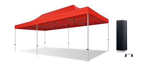 ACTIEXPRESS Tente Pliante 4X8 Structure en Aluminium 40mm Toit 300g/m² qualité professionelle (Rouge)