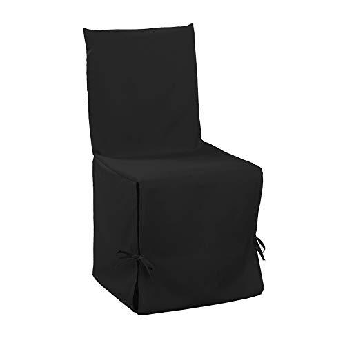 douceur d'intérieur housse de chaise nouettes 50x50x50cm essentiel noir