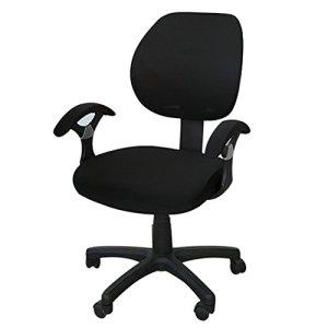 Freahap Housse de Chaise de Bureau Protection de Chaise d'ordinateur Noir