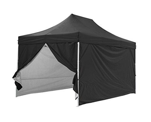 GREADEN Tente pliante noire avec 4 murs amovible 3×4,5m PREMIUM LIGHT – Tube 32mm en acier – Bâche 420D – Barnum pliante – GR-1FAM345420AO2