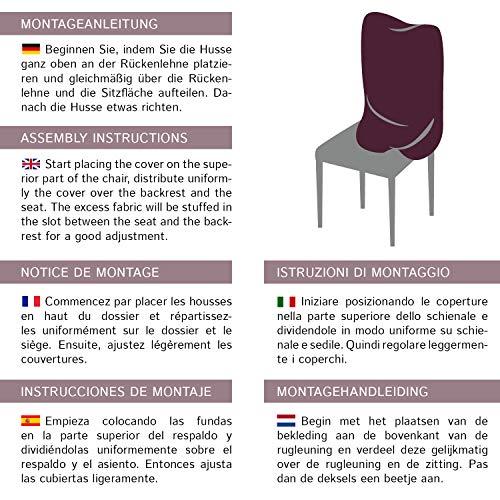 Housses de chaises SCHEFFLER-HOME Natalie 2 pièces, Couverture Spandex, revêtement de chaise, housses élastiques, couvre-chaises en coton – Marron-Brun