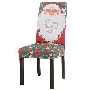 LiveGo Housse de chaise extensible pour chaise de salle à manger amovible et lavable en élasthanne pour chaises hautes, Multi-4., Lot de 6