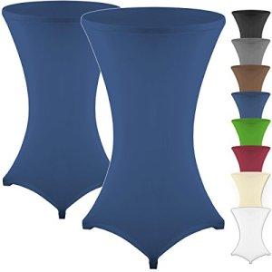 Lot de 2gräfenstayn Lot Housse pour Table en différentes couleurs et 3tailles différentes Diamètre 60cm & # x2022–Ø70cm & # x2022–Ø 80cm, bleu, Ø 70
