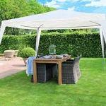 MAXX Tente de réception 3 x 3 m, 9 m² – Blanc – à utiliser comme pavillon, pergola, tente de jardin, chapiteau ou tonnelle.